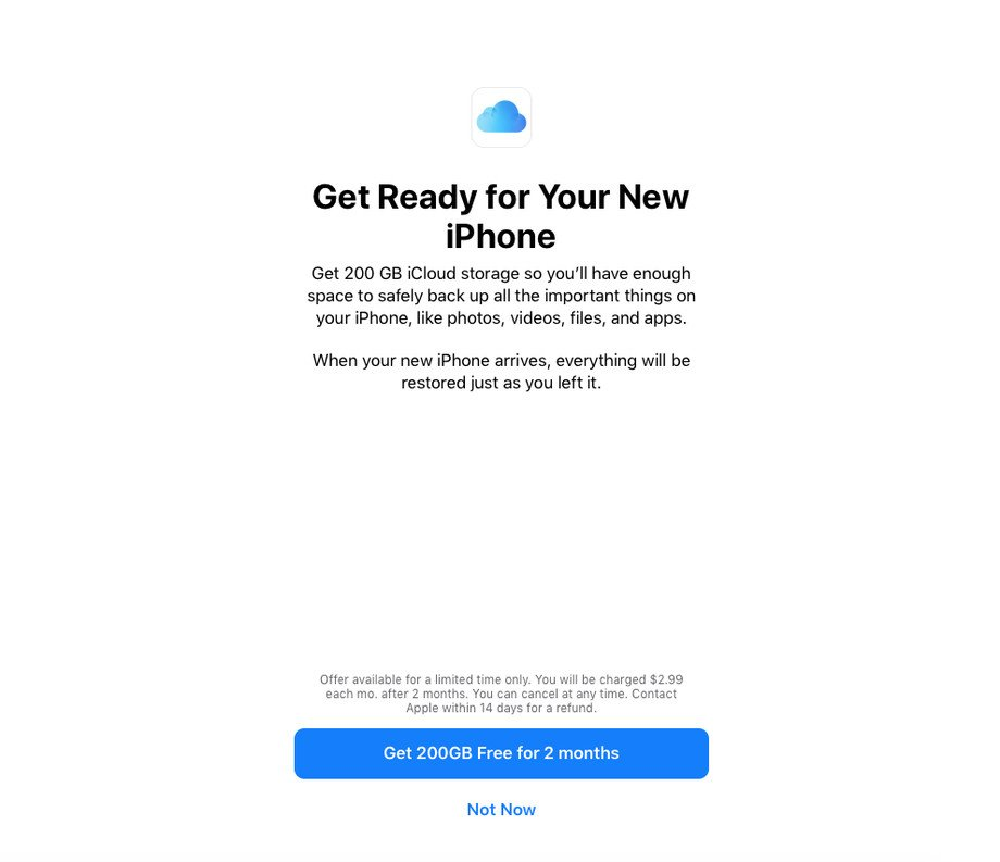 200GB dla nowych użytkowników iCloud