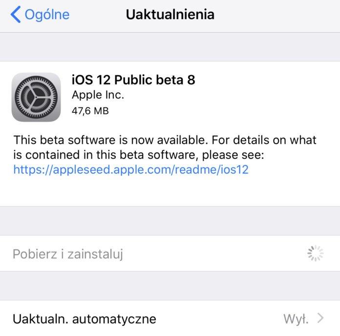 iOS beta 10 public beta 8