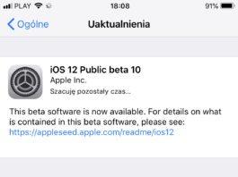 iOS 12 beta 12 public beta 10 dostępna